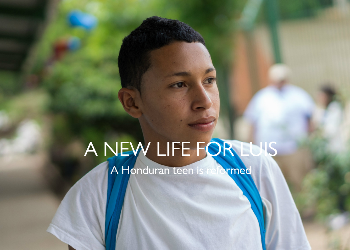 "Experience Luis' transformation through this dynamic visual story told by USAID: ""A New Life for Luis"""