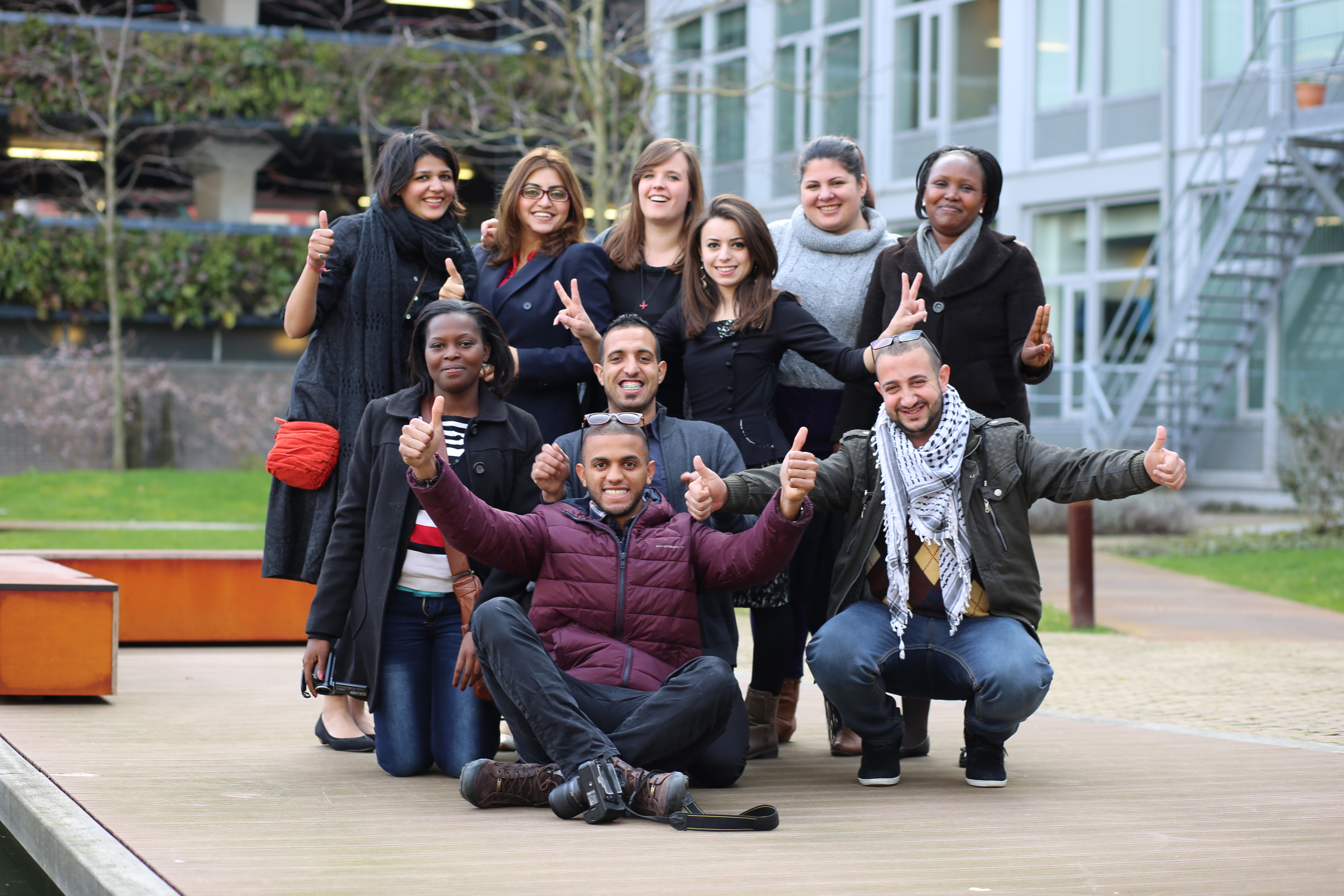 Place: Training of Advocates 2015, The Hague - The Netherlands. Description: Young advocates and peacebuilders participating in the International Training of Advocates, where the participants were trained to influence discussions around peace and security nationally and internationally. Photo taken by: Emad Karim.