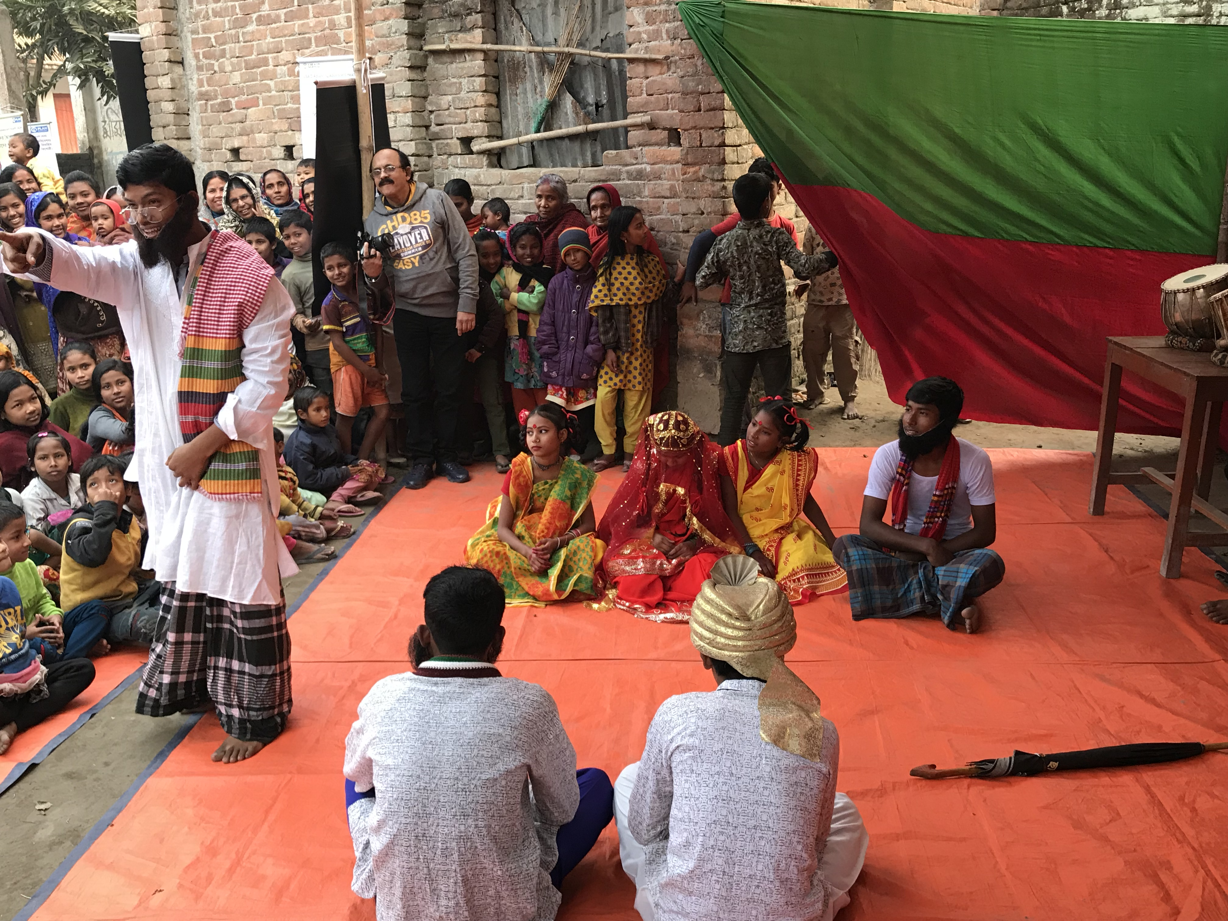 Youth lead theater for development activities in Bangladesh
