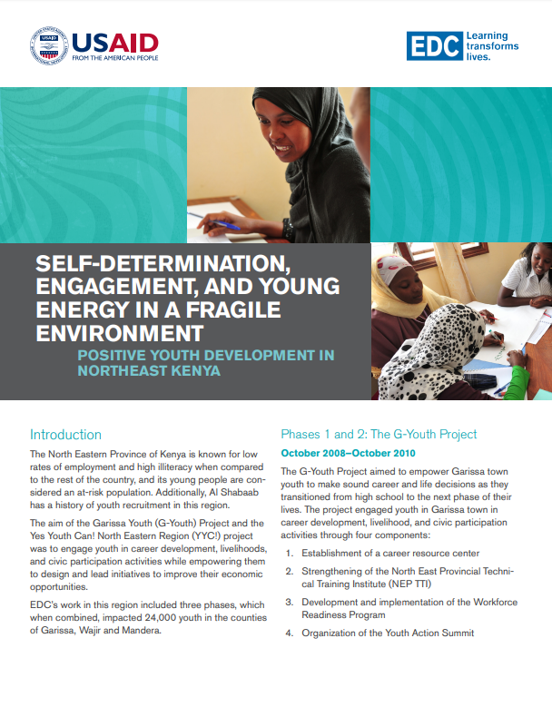 Self-Determination, Engagement, and Young Energy in a Fragile Environment: Positive Youth Development in Northeast Kenya