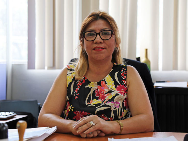 Juvenile Court Judge Claudia Pereira in her office in Tegucigalpa.