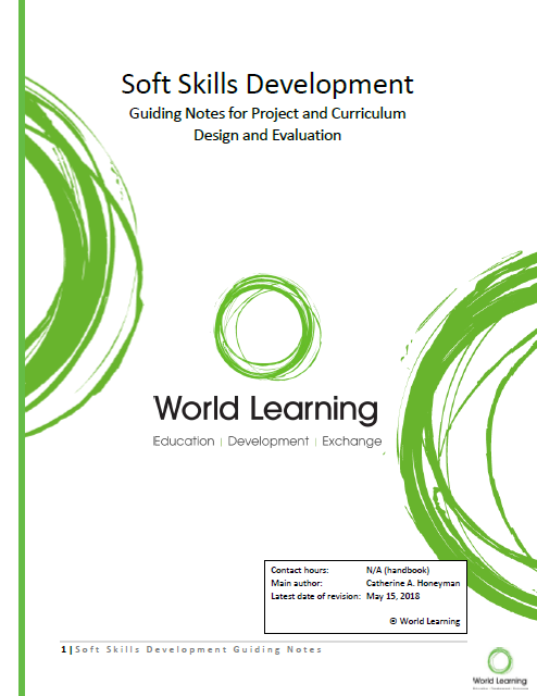 Soft Skills Development: Guiding Notes for Project and Curriculum Design and Evaluation