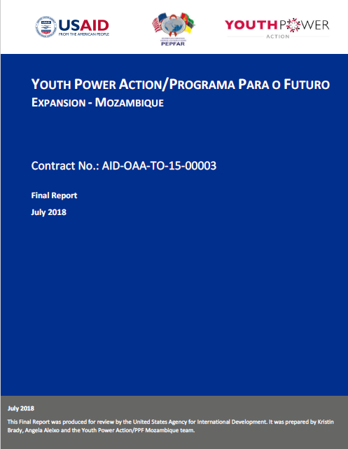 YouthPower Action- Programa Para o Futuro Expansion- Mozambique: Final Report